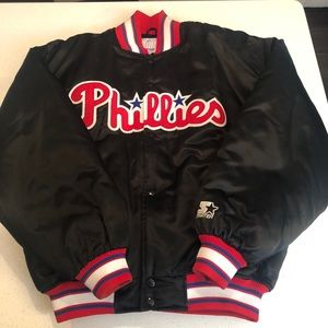 VINTAGE STARTER DUGOUT JACKET 90s Phillies MLB LG